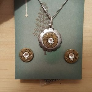 Jewelry - Bullet necklace and earrings